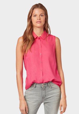 Overhemdblouse - intense pink