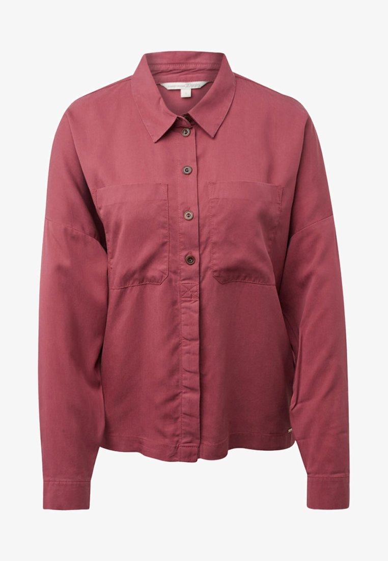 TOM TAILOR DENIM - MIT BRUSTTASCHEN - Button-down blouse - dry rose