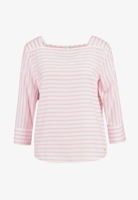 TOM TAILOR DENIM - STRIPED CARREEBLOUSE - Bluzka - rose/white - 4