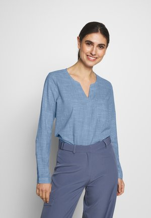Blouse - light blue/white