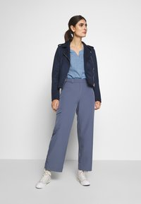 TOM TAILOR DENIM - Bluzka - light blue/white - 1