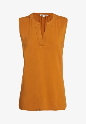 NECK DETAIL - Blouse - mango brown