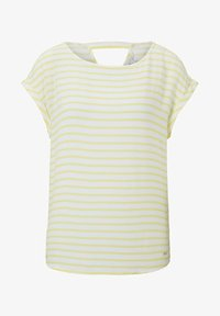 yellow white horizontal stripe
