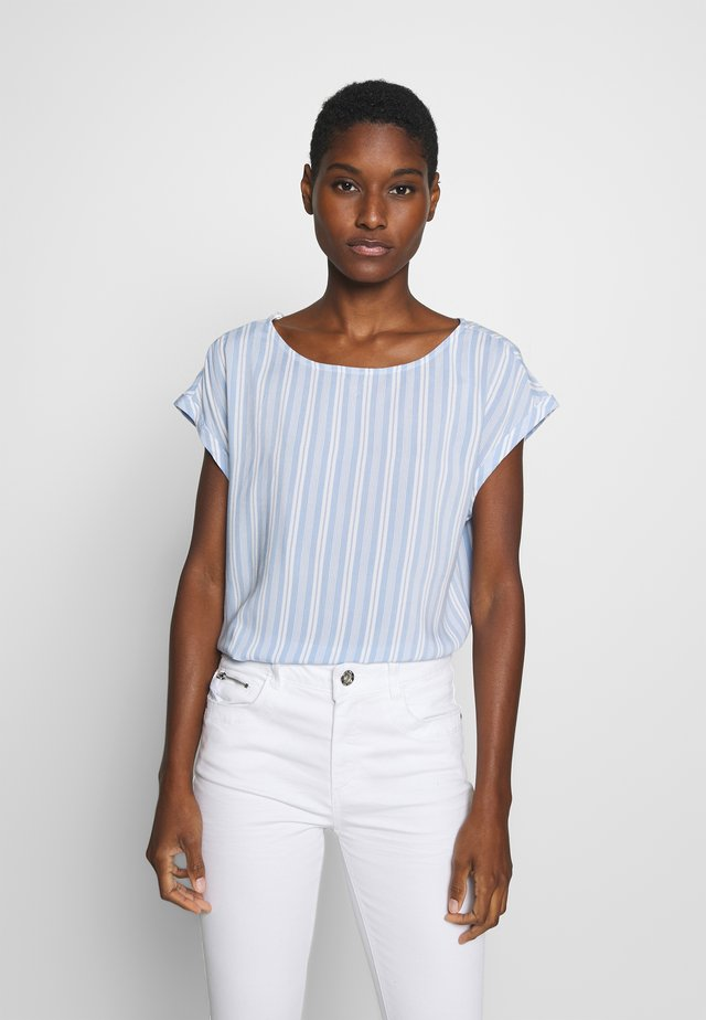 SPORTY ALL OVER PRINTED BLOUSE - Blouse - light blue
