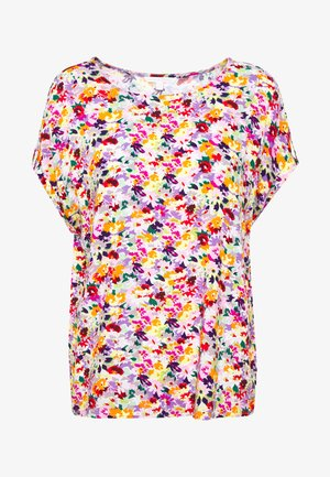 PRINT WITH TURN UP SLEEVES - Bluzka - multicolor