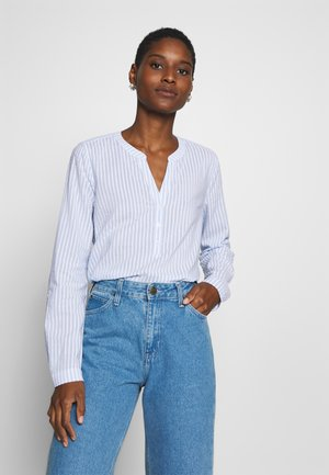 STRIPED TUNIC BLOUSE - Blouse - blue