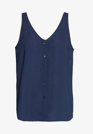 BUTTON PLACKET - Blouse - real navy blue