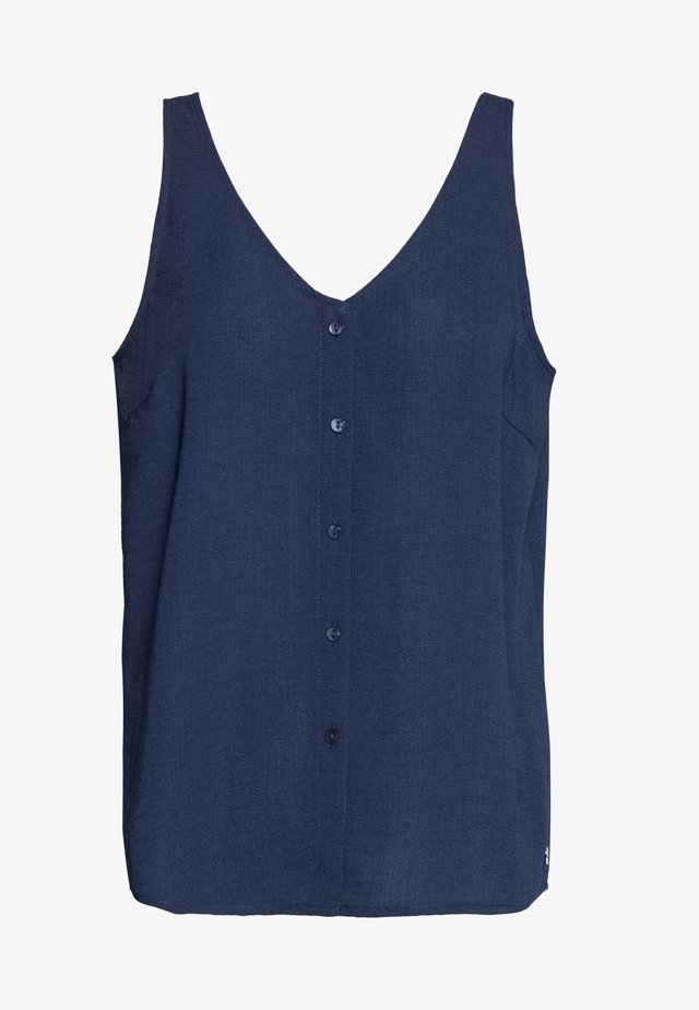 BUTTON PLACKET - Bluzka - real navy blue