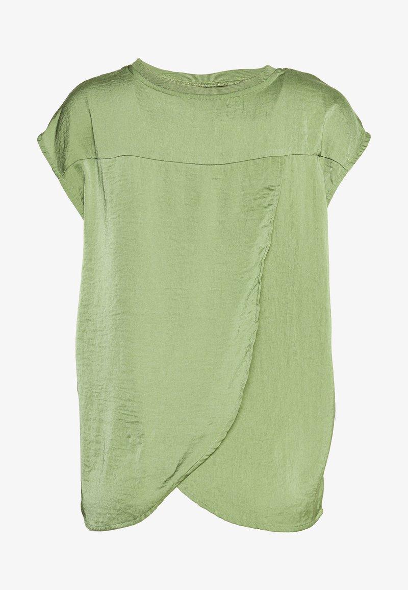 TOM TAILOR DENIM - BLOUSE WITH NECK - Bluser - olive green