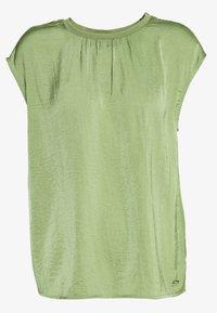 TOM TAILOR DENIM - BLOUSE WITH NECK - Bluser - olive green - 1