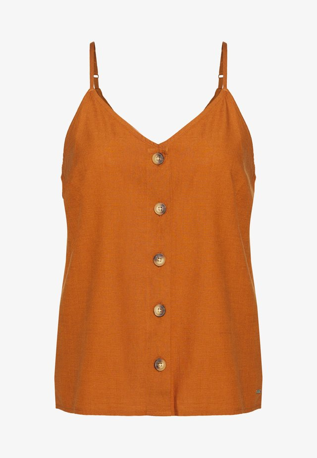 Blouse - mango brown