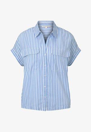 TOM TAILOR DENIM BLUSEN & SHIRTS GESTREIFTES BLUSENSHIRT IM BOXY - Button-down blouse - blue white vertical stripe