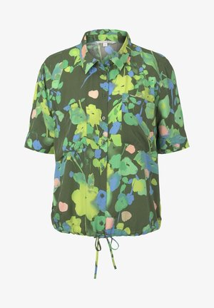 BLUSEN & SHIRTS KURZARM HEMDBLUSE MIT FLORALEM PRINT - Button-down blouse - green flower print