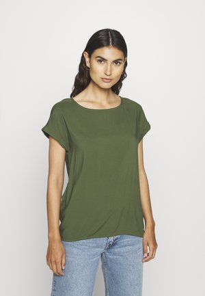 WITH BACK DETAIL - Blouse - dusty rifle green