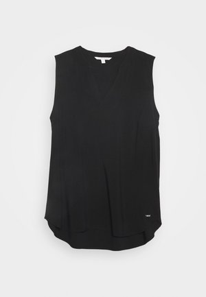 SLEEVELESS V NECK - Bluser - deep black