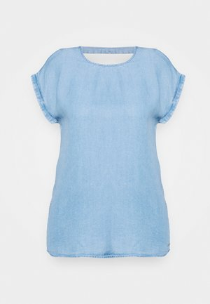TUNIC WITH BACK DETAIL - Blůza - light stone bright blue denim
