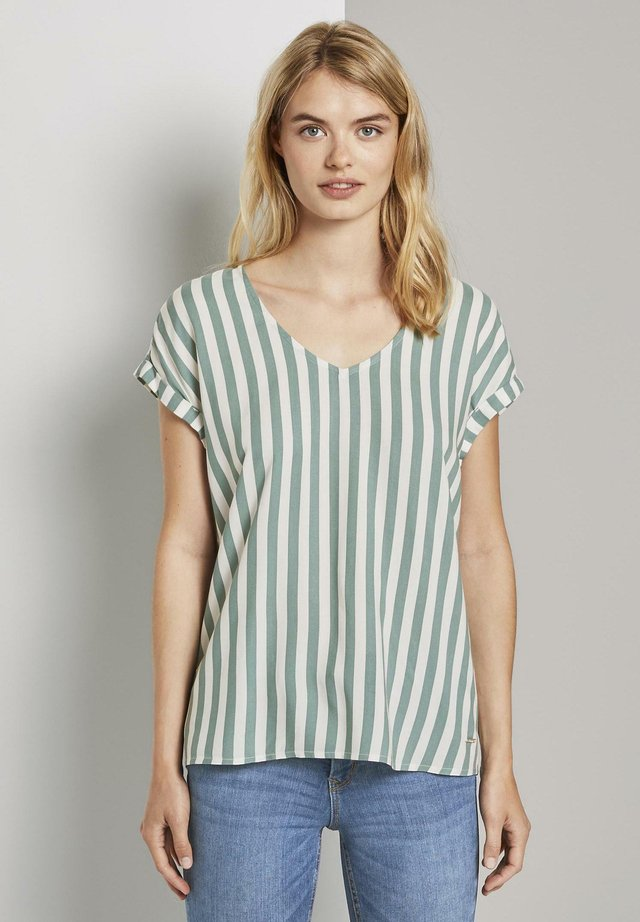 PRINTED SPORTY BLOUSE - Blouse - mineral blue vertical stripe