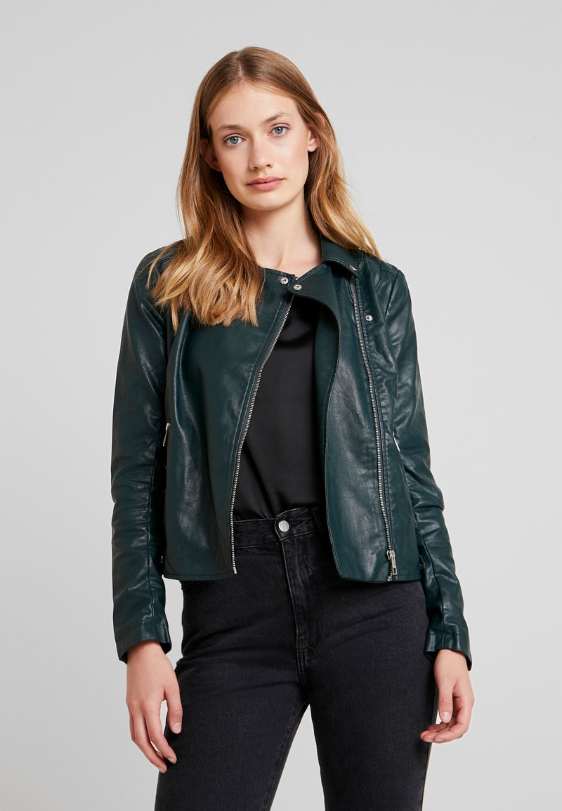 TOM TAILOR DENIM - Faux leather jacket - sycamore green