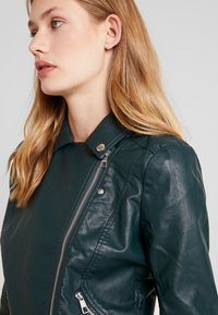 TOM TAILOR DENIM - Faux leather jacket - sycamore green - 3