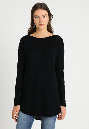 EASY LONG - Strickpullover - black