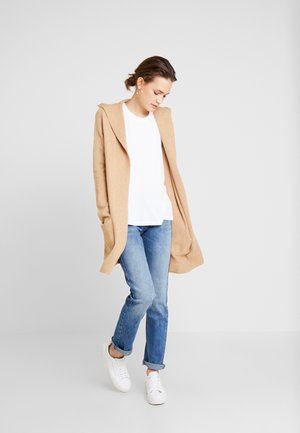CARDIGAN WITH HOOD - Gilet - camel melange/brown