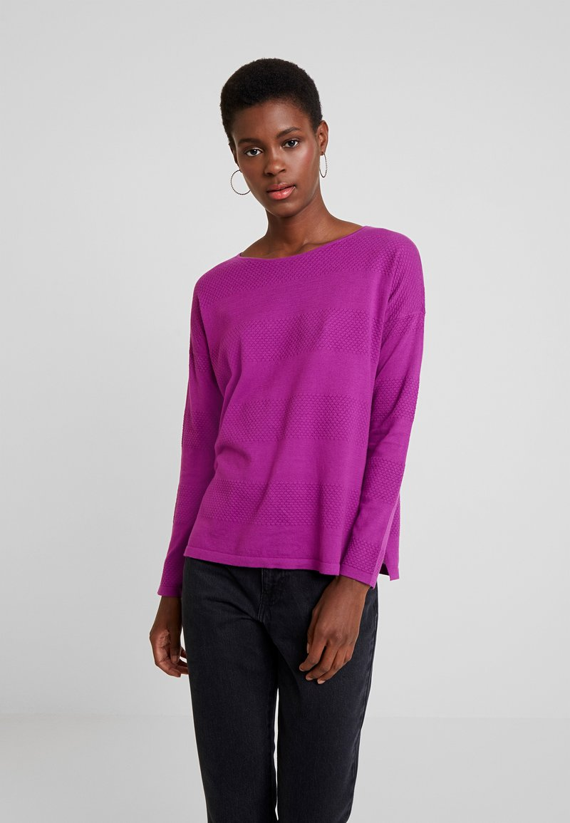 TOM TAILOR DENIM - STRUCTURED - Jersey de punto - bright berry