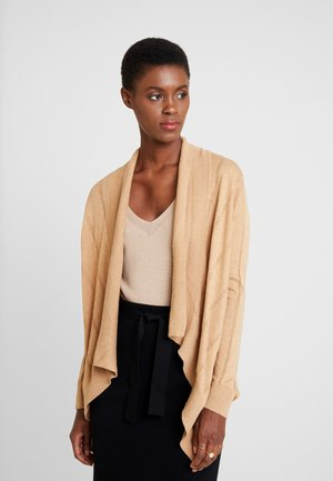 BASIC CARDIGAN - Strickjacke - camel melange