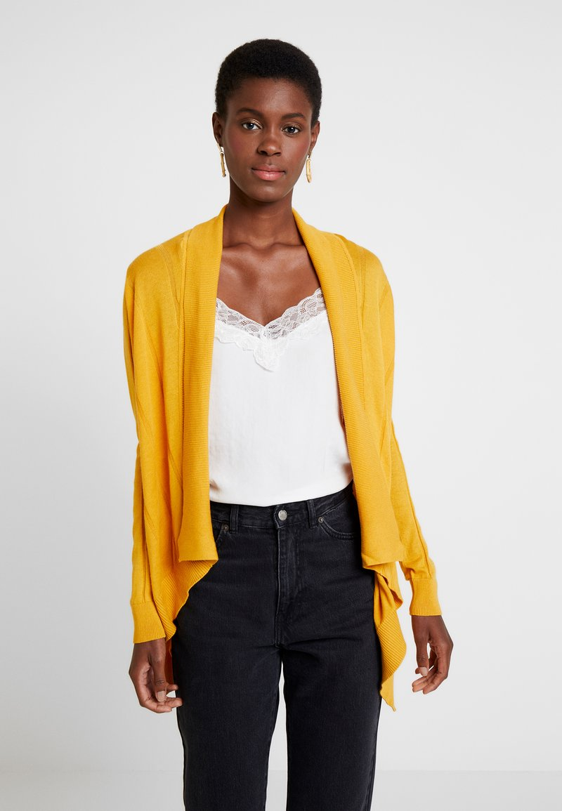 TOM TAILOR DENIM - BASIC CARDIGAN - Strikjakke /Cardigans - sunflower