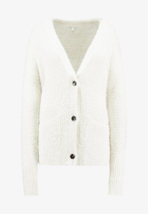 oferta TOM TAILOR DENIM FEATHER YARN CARDIGAN - Kardigan - gardenia white Odzież Damska UHAW-QM1