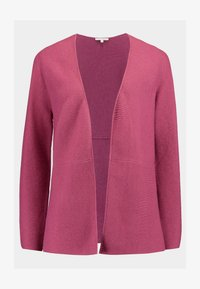 TOM TAILOR DENIM - CARDIGAN WITH STRUCTURE - Kofta - dry rose melange/purple