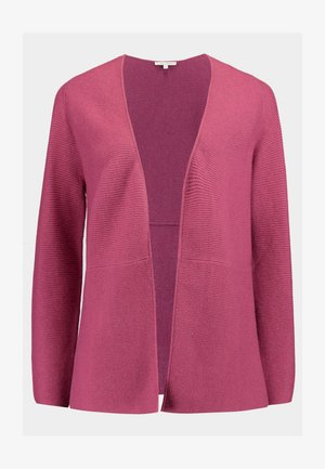CARDIGAN WITH STRUCTURE - Neuletakki - dry rose melange/purple