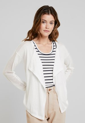 CARDIGAN WITH STRUCTURE - Cardigan - off white