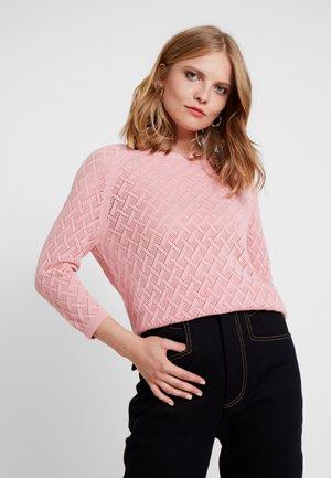 Stickad tröja - dusky pink