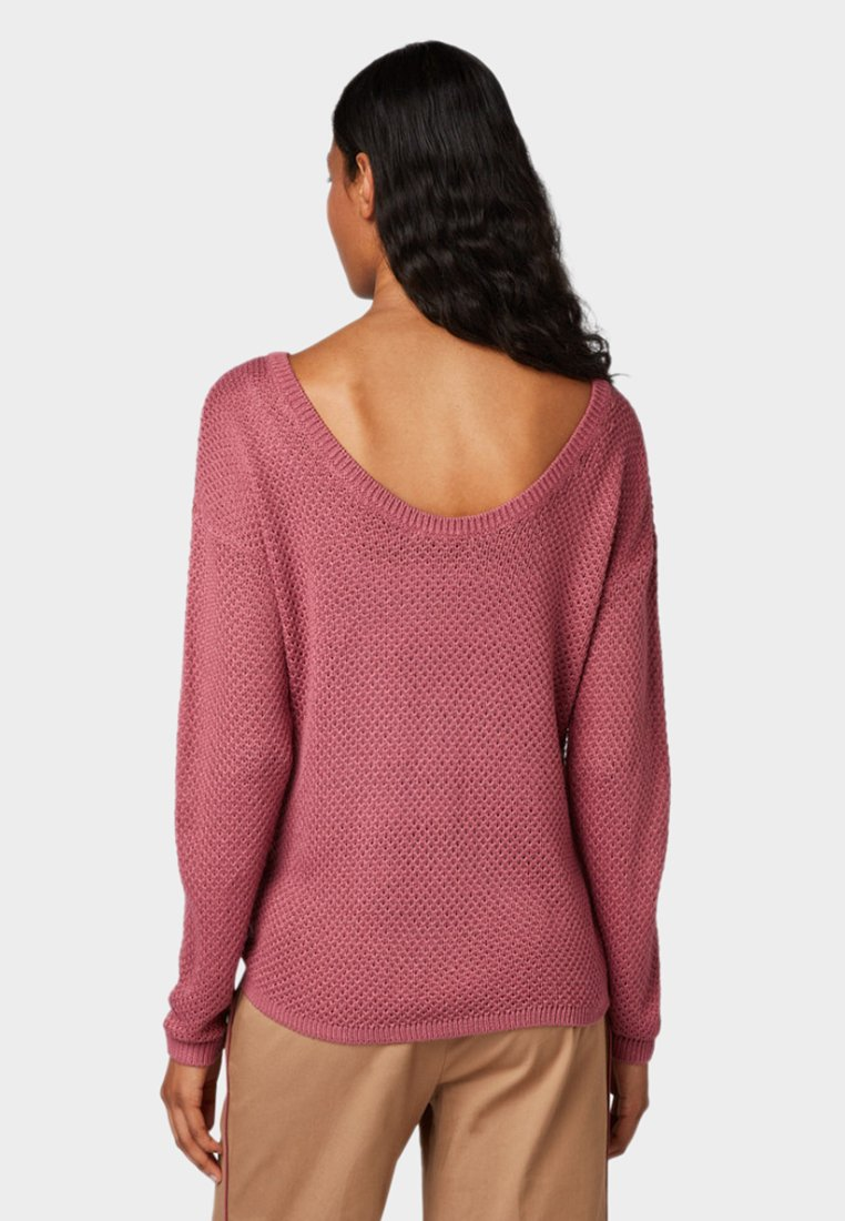 Back Denim With Deep Dry Tom Tailor CollarPullover Rose W2IEDH9Y