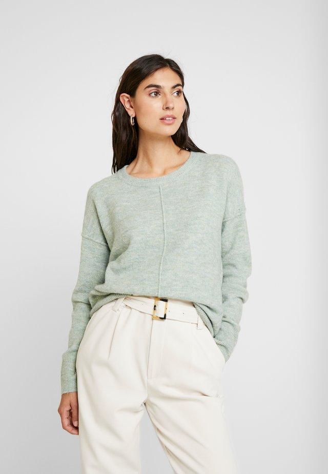 COSY CREW NECK  - Strickpullover - soft mint/green melange