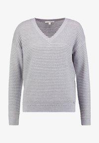 TOM TAILOR DENIM - OTTOMAN - Stickad tröja - light silver/grey mélange/grey - 4