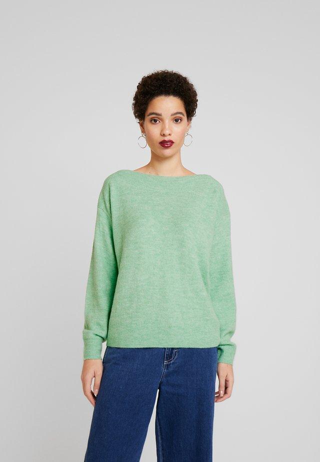 Sweter - soft basil green melange