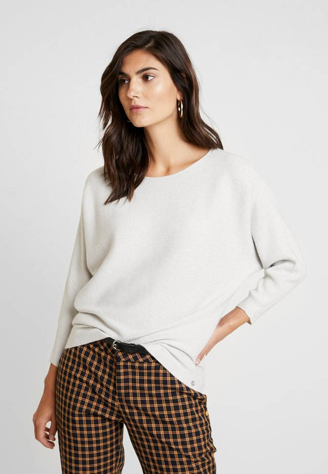 SPONGEE OTTOMAN  - Sweter - marble beige/melange white