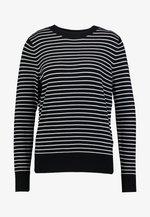 EASY STRIPE - Sweter - black/white