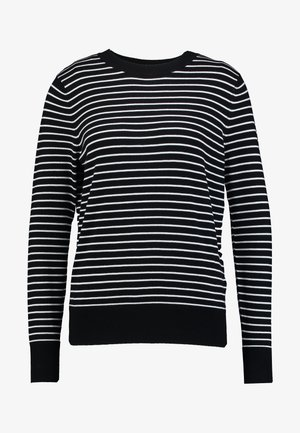 EASY STRIPE - Pullover - black/white