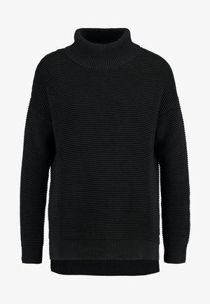 OTTOMAN TURTLE NECK - Pullover - deep black