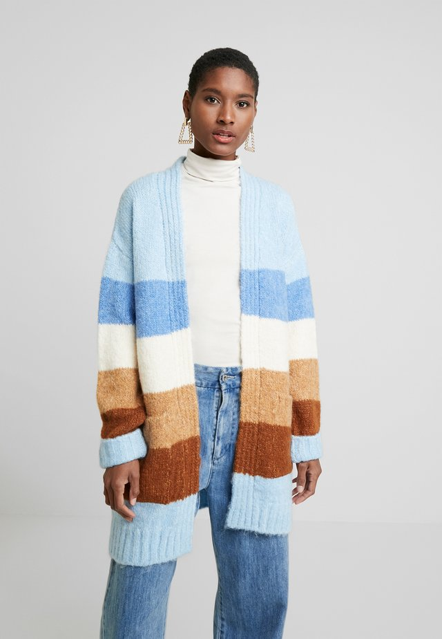 COSY CARDIGAN - Kardigan - blue/brown