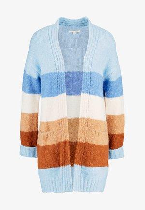 COSY CARDIGAN - Cardigan - blue/brown
