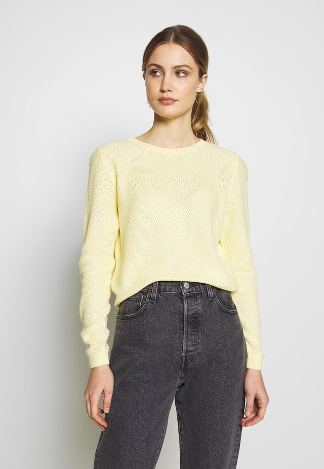 HONEYCOMB - Jersey de punto - pale yellow