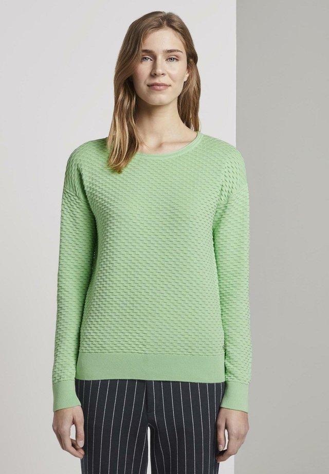 WAFFLE STRUCTURED - Jersey de punto - green