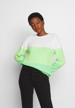 Sweter - green/creme