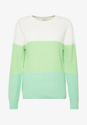 Jumper - green/creme