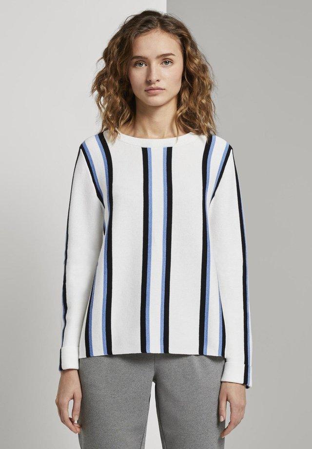 Jersey de punto - white/blue/black
