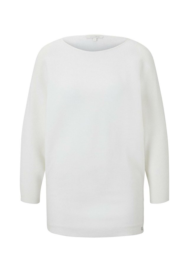 PULLOVER STRICKJACKEN LOCKERER STRICKPULLOVER - Jersey de punto - off white