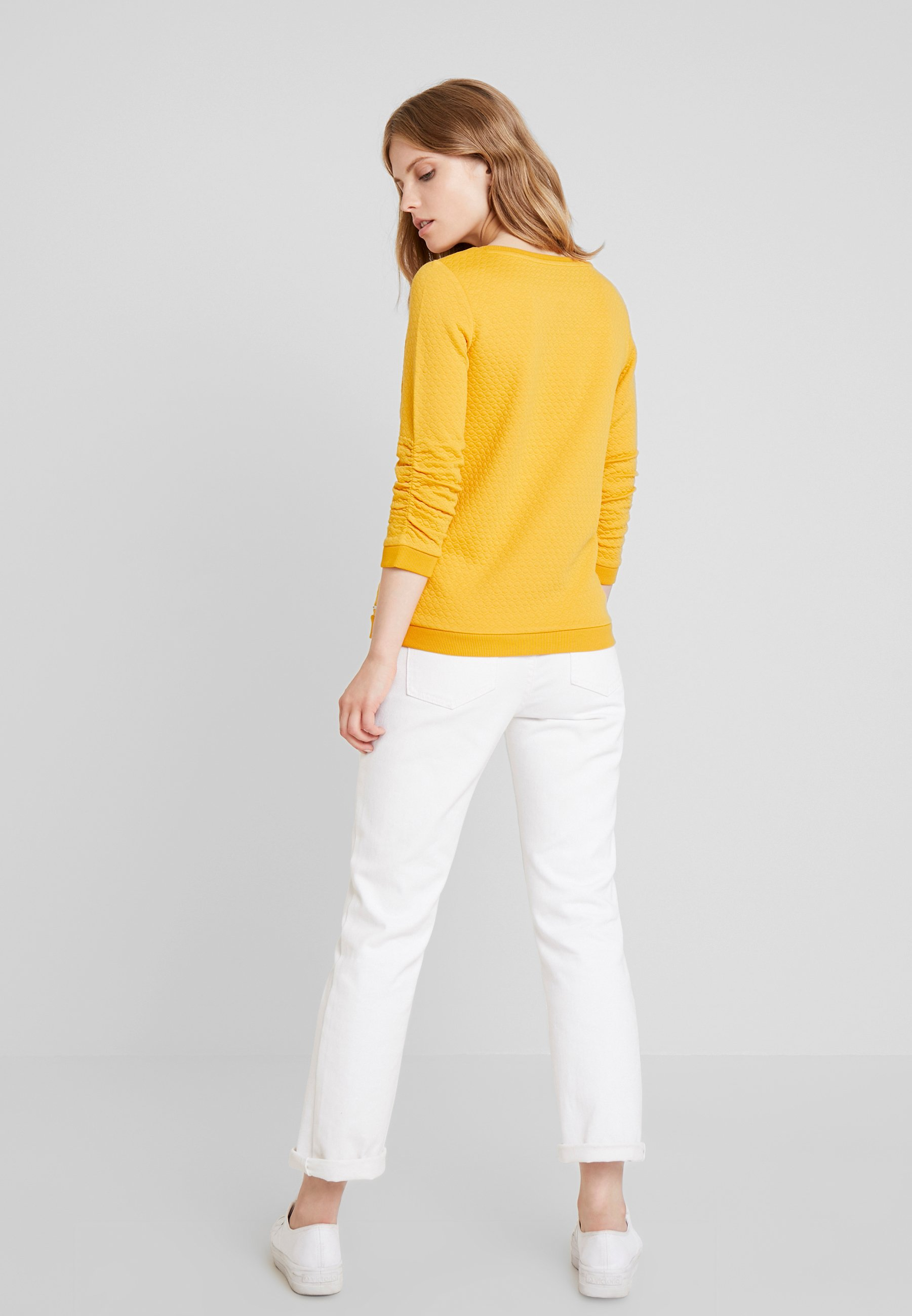 TOM TAILOR DENIM STRUCTURED - Topper langermet - sunflower yellow